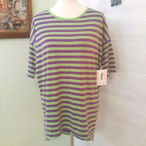Lularoe stripe oversized tunic top XXS NWT *C4